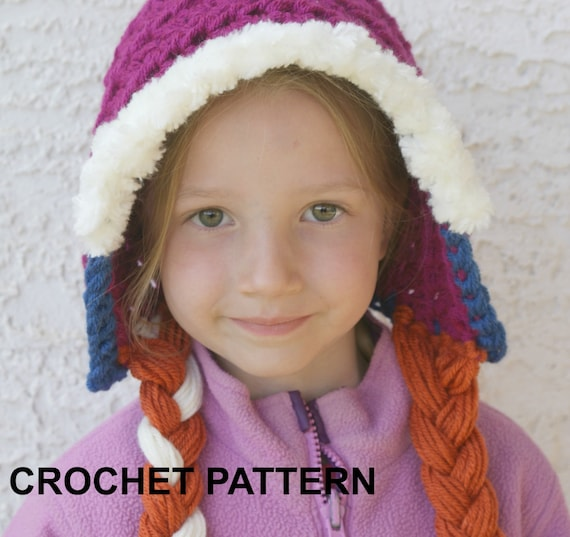 Free Crochet Pattern For Anna Hat : Instant Download PRINCESS ANNA Hat Pattern Crochet Pattern