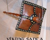 Viking Santa Drop Spindle ( EDS 0561 ) Leather whorle