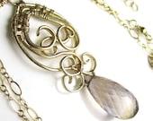 Purple Honey Necklace - 14k Gold Filled Wrapped Ametrine