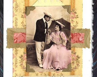 How to Measure Love Original Collage Card