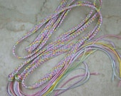 Kumihimo Handwoven Rayon Satin Cord Flat Braid in Pastel Colors by All My Beads
