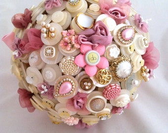 Lillybuds The High Society Princess Button Bouquet