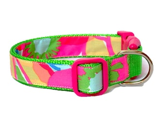 Dog Collar Made from Lilly Pulitzer Ice Cream Social Fabric Size: Your Choice