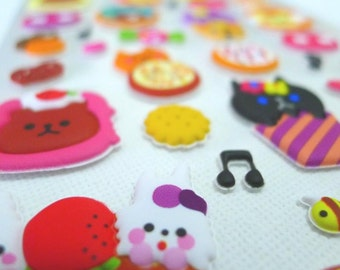 Cute Puffy Japanese Sticker - Milky Sugar - Animal Cupcakes (1287) by Mind Wave Inc.