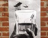 Hi-Dive - Screenprinted Art Print