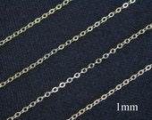 New 10 ft  - 14k Gold Filled Flat Cable Chain  1mm