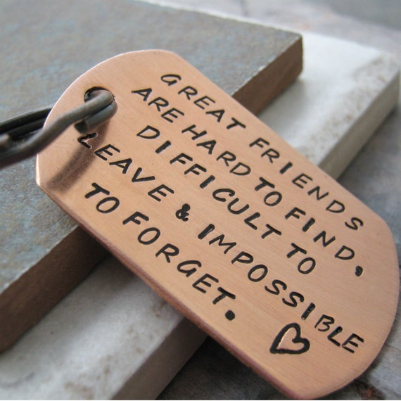 Friendship Greatness: Great Friends Quote Keychain Friendship Quote Friends Quote