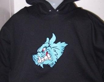 Hoodie Razorback Hog Embroidered on Hooded Sweatshirt ADULT Medium Ready to Ship