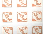 Japanese Stickers Plum Blossoms Flower Washi Paper (S237) Traditional Design Stickers