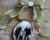 Custom Oval Christmas Photo Ornament, My First Christmas, First Christmas as Mr. & Mrs., Personalized Photo Ornament, Wedding Photo Gift