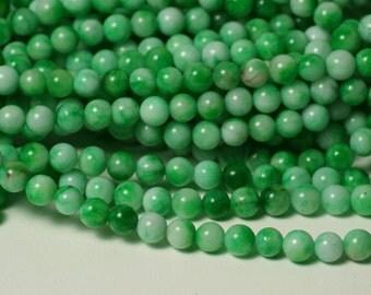 Candy jade round 6mm spring green, 15-inch strand (item ID CJR6mLG)