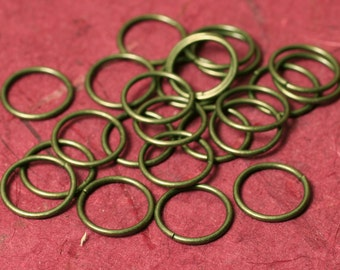 Jump ring antique brass 14mm outer diameter 16g thick, 24 pcs (item ID XMFK00061CCE)