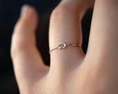 Tiny Ultra Thin Knot ring in Sterling Silver, One Single Ultra Thin ring, silver knot ring, silver stacking ring, delicate knot ring