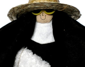 "Nun doll sister doll Catholic gift of humor   ""Sister Mary Sunshine"" the vacationing sister"