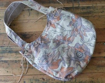 Ultimate Hobo Bag -- Brown Vinatge Inspired Floral