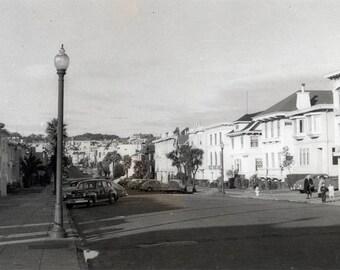 vintage photo 1948 San Francisco Neighborhood Cars houses