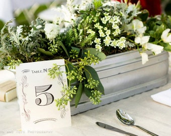 Vintage Table Numbers 1-20 // Reception Table Numbers // Wedding Day