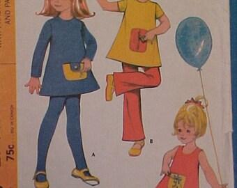 McCalls Pattern 2744 Child sz 4 Featuring Teach Me pockets