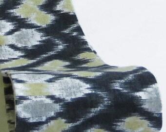 Gray Headband, Wide Fabric Headband, Gray Head Band, Wide Fabric Head Band, Ikat Headband, Ikat Print Headband, Hair Headbands, Wide Band