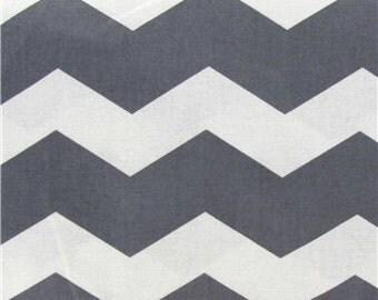 GREY CHEVRON FABRIC Yardage Fabric by the yard or half yard gray and white zigzag chevron print cotton