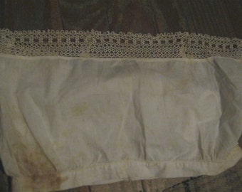 Antique Vintage Chemise Top with Tatting Tatted Lingerie Undergarment  FREE SHIPPING