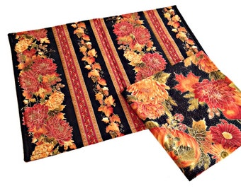 Thanksgiving Placemats and Napkins, Fall Floral Placemats and Napkins, Autumn Splendor Thanksgiving Table Linens