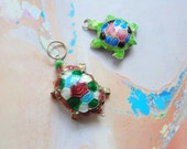 Cloisonne Turtle Pendants