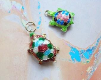 Cloisonne Turtle Pendants