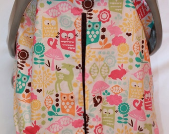 Watermelon wildlife Unique Fitted Carseat canopy