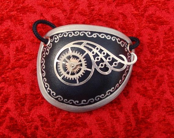 Steampunk Eyepatch Handmade Carved Leather Steam Punk