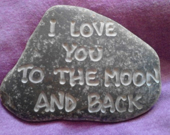 Valentine's Day I Love You to the Moon and Back Engraved