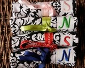 Personalized gifts - Fabric Jewelry Organizer Roll with monogram or full name embroidery