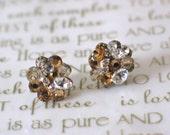 Gold Wedding Stud Earrings, Sparkly Wedding Earrings, Swarovski Crystals, Bridal Earrings. Post Earrings