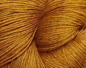 "MYS 622 Yarn ""FOOL'S GOLD "" -superwash merino,yak, silk yarn - 100 grams 400 yards"