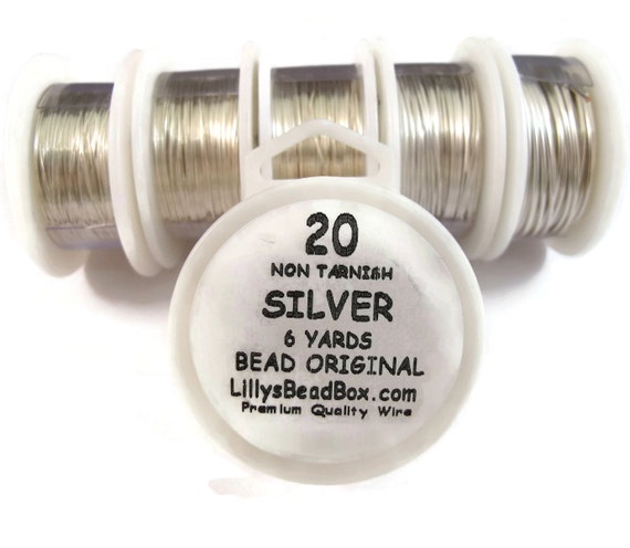 Silver Plated Wire - 20 Gauge Round Wire for Making Jewlery, Non Tarnish Wire, Wire Wrapping Supplies