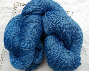 Merino- Silk Lace Yarn 100g Hand Dyed - Hyacinth Blue