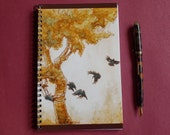 Raven Bird Spiral Notebook - And the Crows - Blank Sketchbook