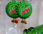 50% off sale MT DEW Bottlecap Earrings- Ready to ship!