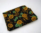 Black Sunflowers and Wheat Fat Quarter Fabric