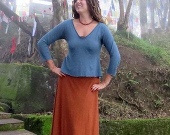 Organic Ritual Babydoll Cropped Shirt (light hemp/organic cotton knit)