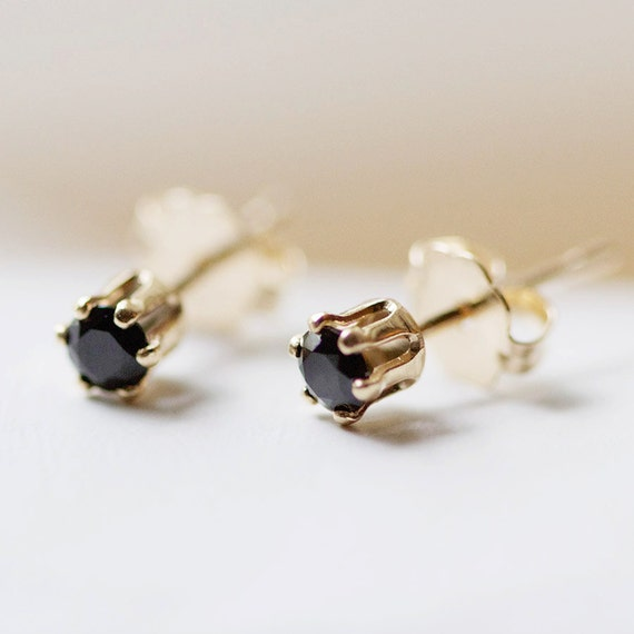 nova - tiny gold stud earrings by elephantine