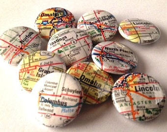 MAPS!  1 inch Buttons (pin-back)