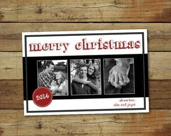 Modern Christmas card, custom holiday card