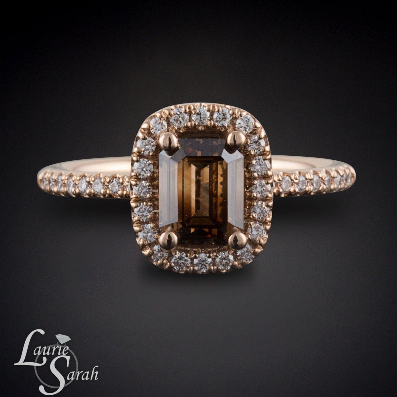 rose gold mocha colored diamond ring brown diamond engagement. Black Bedroom Furniture Sets. Home Design Ideas