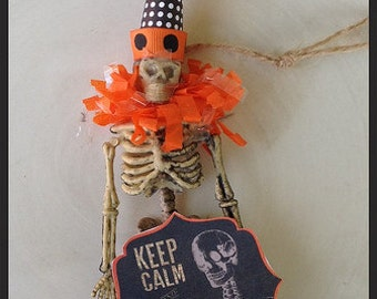 Festive Skeleton Halloween Decoration for Halloween Party or Day of the Dead