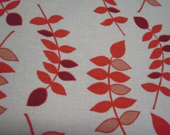 Fabric - Valori Wells, Jenaveve linen, Leaves, Raspberry - by the yard