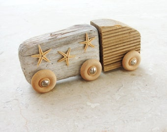 The Beach Truck - Driftwood and StarFish
