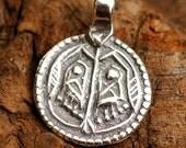 Amulet Buddhas Footprint Sterling Silver, C37