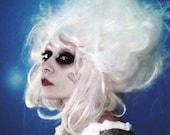 Halloween Wig, White Powder Wig, Gothic Lolita costume, drag queen hair, Steampunk, Neo Victorian, Cosplay, Marie Antoinette