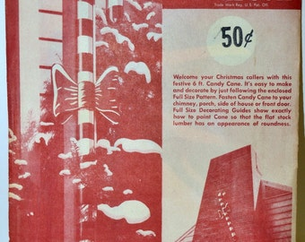 Vintage Colossal Candy Cane Build it Yourself Pattern Easi-Bild